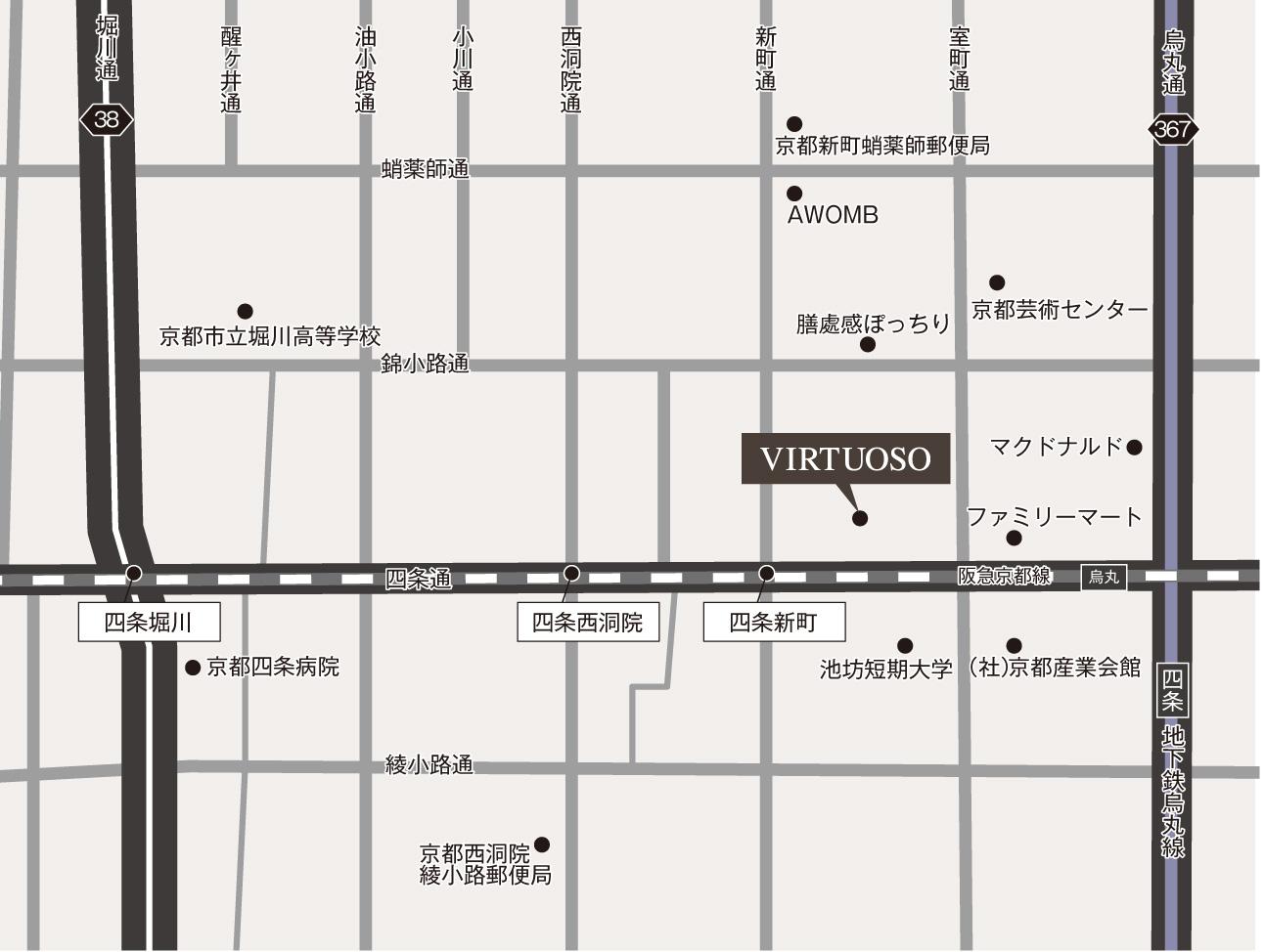 京都四条烏丸店ビルの外観