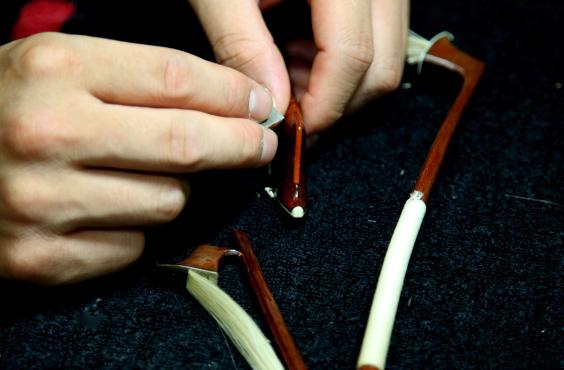 楽弓ヘッド折れ修理