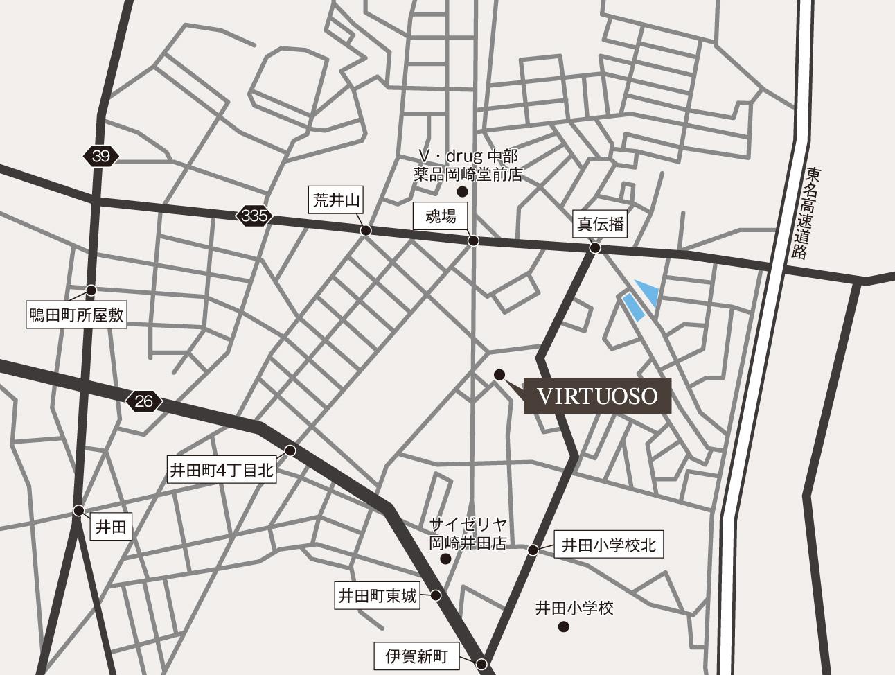岡崎店/本社地図